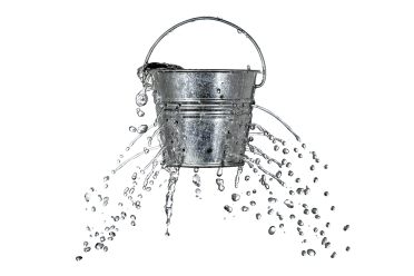 bucket with holes
